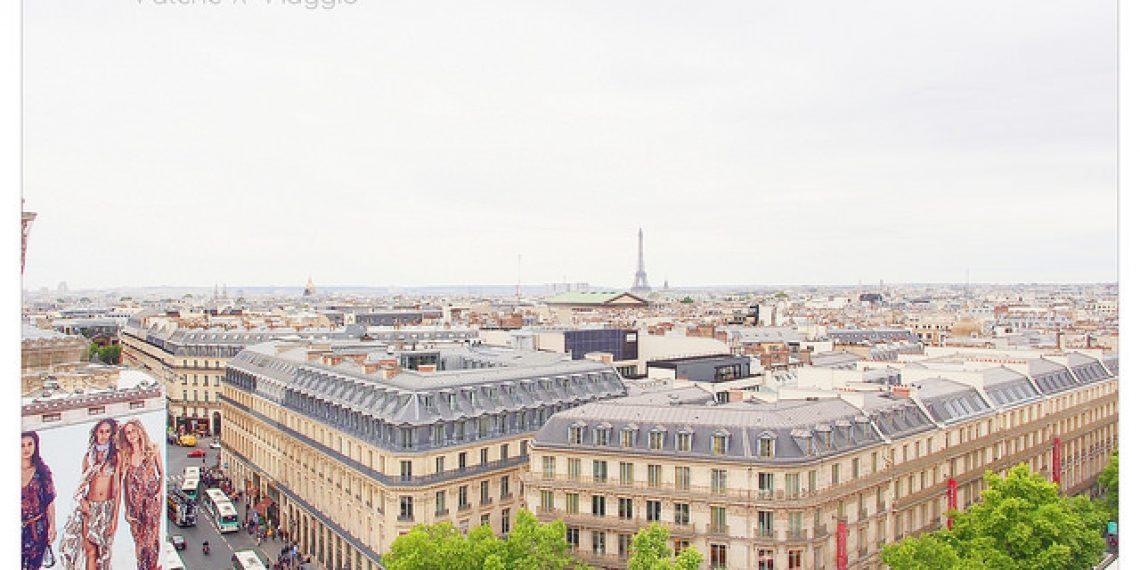 【巴黎 Paris】雨天在奧斯曼大道 老佛爺百貨 春天百貨 Pierre Hermé馬卡龍