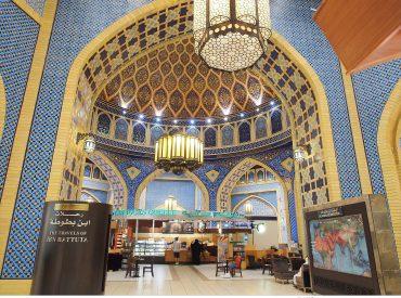 在天氣炎熱的沙漠地帶  逛街也成了杜拜遊玩的一大行程 六國商城 IBN Battuta 共有六個國家主題的商城 今天來這的目的也是為了尋找全球最美的星巴克之一