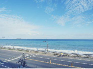 沿著南台灣海岸線的台九南迴公路  一路上只有藍到不能再藍的大海 播著最近愛上的Rachael Yamagata  舒服慵懶的歌聲很適合這樣的天氣