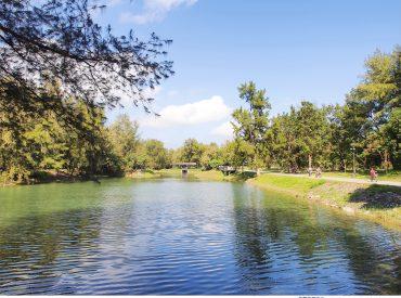 森林公園鄰近海濱  佔地有3 4百公頃  是兼顧休閒運動的好地方 今天我們就在綠意盎然的森林公園來一趟單車輕旅行