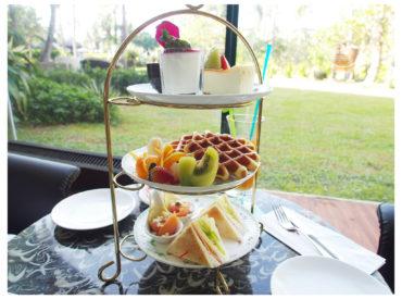 於是我們到墾丁凱撒飯店用下午茶 順便進來逛逛一直很想入住的凱撒飯店 耳聞這裡很有海島度假氛圍 尤其是峇里島風格的VILLA